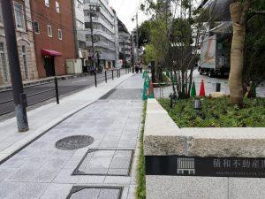 南御堂(エクセルホテル東急)の横の道